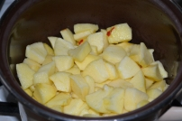 Äpfel in Stücke geschnitten