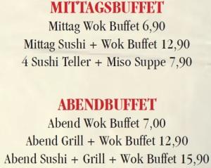 Buffetpreise