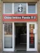 Eingang des China Imbiss Panda in Karlsruhe