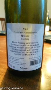 Molitor Weinflasche